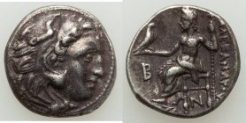 "MACEDONIAN KINGDOM. Alexander III the Great (336-323 BC). AR drachm (17mm, 4.38 gm, 12h). VF. Early posthumous issue of ""Colophon,"" ca. 310-301 BC. He..."