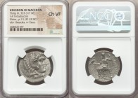MACEDONIAN KINGDOM. Philip III Arrhidaeus (323-317 BC). AR tetradrachm (27mm, 11h). NGC Choice VF. Sidon, dated Year 13 (321/20 BC). Head of Heracles ...