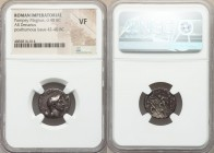Pompey Magnus (died 48 BC). AR denarius (18mm, 11h). NGC VF. Posthumous issue of uncertain mint in Sicily (Catania?), ca. 42-40 BC. MAG•PIVS•IMP•ITER,...