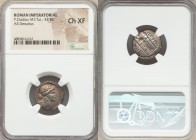 P. Clodius M.f. Turrinus (ca. 42 BC). AR denarius (19mm, 5h). NGC Choice XF. Rome. Laureate head of Apollo right; lyre behind / P•CLODIVS-M•F, Diana L...