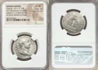 Hadrian (AD 117-138). AR cistophorus (29mm, 10.66 gm, 7h). NGC Choice VF 4/5 - 4/5. Ephesus, ca. AD 138. HADRIANVS-AVG COS III P P, bare headed, drape...
