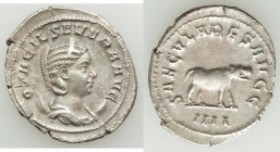 Otacilia Severa (AD 244-249). AR antoninianus (22mm, 3.91 gm, 7h). XF, porous. Rome, 4th officina, AD 247-248. OTACIL SEVERA AVG, draped bust of Otaci...