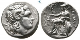 Kings of Thrace. Ephesos or Philippi. Macedonian. Lysimachos 305-281 BC. Drachm AR
