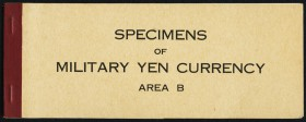 "Japan Allied Military Currency Supplemental B Specimen Book Choice Crisp Uncirculated. A series of ""Area B"" military currency of the 10 sen, 50 sen, 1..."
