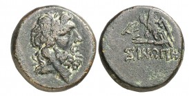 (95-90/80-70 a.C.). Paflagonia. Sinope. AE 19. (S. 3711 var) (CNG. VII, 421). 7,97 g. Acuñada bajo Mithradates VI. MBC.