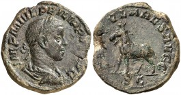 (248 d.C.). Filipo II. Sestercio. (Spink 9283) (Co. 73) (RIC. 264a). 15,84 g. MBC.
