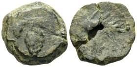 SPAIN. Acinipo. 1st century BC. (Bronze, 21 mm, 11.52 g, 1 h). Bunch of grapes. Rev. ACINIPO between two grain ears. SNG BM Spain 1612-1624 var. A cru...