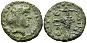 SICILY. Entella. Roman rule, circa 263-36 BC. (Bronze), c. 125-75 BC. Head of youthful Dionysos to right, wearing ivy wreath. Rev. ENTEΛΛINωN around g...
