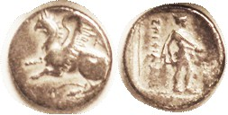 ABDERA , Drachm, 386-375 BC, Griffin l., A behind/Hermes stg r, in square; F-VF, a trifle off-ctr, minor crudeness, decent metal with some purplish to...