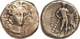HERAKLEIA , Ar Nomos, 281-278 BC, Athena had facg 3/4 rt, in triple crested helmet/ Herakles stg w/club & lion skin; F-VF, nrly centered, decent metal...