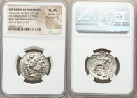 MACEDONIAN KINGDOM. Alexander III the Great (336-323 BC). AR tetradrachm (26mm, 16.90 gm, 1h). NGC Choice AU 5/5 - 3/5. Posthumous issue of Ake or Tyr...