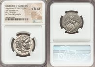 MACEDONIAN KINGDOM. Alexander III the Great (336-323 BC). AR tetradrachm (25mm, 8h). NGC Choice XF. Lifetime issue of Tarsus, ca. 327-323 BC. Head of ...