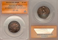 MACEDONIAN KINGDOM. Alexander III the Great (336-323 BC). AR tetradrachm (25mm, 6h). ANACS EF 45. Lifetime issue of 'Babylon', ca. 325-323 BC. Head of...