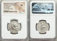 MACEDONIAN KINGDOM. Alexander III the Great (336-323 BC). AR tetradrachm (25mm, 11h). NGC XF. Lifetime or early posthumous issue of Damascus, ca. 330-...