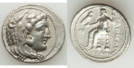 MACEDONIAN KINGDOM. Alexander III the Great (336-323 BC). AR tetradrachm (28mm, 16.90 gm, 11h). XF, porosity. Late lifetime-early posthumous issue of ...