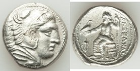 MACEDONIAN KINGDOM. Alexander III the Great (336-323 BC). AR tetradrachm (25mm, 16.89 gm, 10h). XF, flan flaw. Late lifetime-early posthumous issue of...