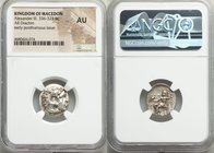 MACEDONIAN KINGDOM. Alexander III the Great (336-323 BC). AR drachm (18mm, 12h). NGC AU. Posthumous issue of Abydus (?), ca. 310-301 BC. Head of Herac...