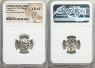 MACEDONIAN KINGDOM. Alexander III the Great (336-323 BC). AR drachm (17mm, 11h). NGC Choice XF. Posthumous issue of 'Colophon', ca. 319-310 BC. Head o...