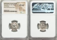 MACEDONIAN KINGDOM. Alexander III the Great (336-323 BC). AR drachm (18mm, 11h). NGC Choice XF. Posthumous issue of Lampsacus, ca. 310-301 BC. Head of...