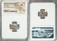 MACEDONIAN KINGDOM. Alexander III the Great (336-323 BC). AR drachm (17mm, 8h). NGC XF. Posthumous issue of Lampsacus, ca. 310-301 BC. Head of Heracle...