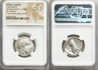 ATTICA. Athens. Ca. 440-404 BC. AR tetradrachm (23mm, 17.20 gm, 10h). NGC AU 5/5 - 5/5. Mid-mass coinage issue. Head of Athena right, wearing crested ...