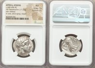 ATTICA. Athens. Ca. 440-404 BC. AR tetradrachm (25mm, 17.22 gm, 10h). NGC AU 5/5 - 4/5. Mid-mass coinage issue. Head of Athena right, wearing crested ...