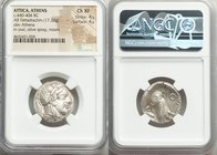 ATTICA. Athens. Ca. 440-404 BC. AR tetradrachm (22mm 17.20 gm, 10h). NGC Choice XF 4/5 - 4/5. Mid-mass coinage issue. Head of Athena right, wearing cr...