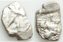 CYPRUS. Citium. Azbaal (ca. 449-425 BC). AR stater (24mm, 11.30 gm, 7h). Fine. Heracles advancing right, wearing lion skin around shoulders, brandishi...