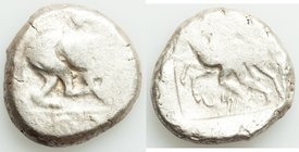 CYPRUS. Marion. Sasmas (ca. 470-450 BC). AR stater (22mm, 10.97gm, 9h). VG. Sasmas, son of Doxandros (Cypriot syllabic script), lion standing right, l...