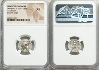 SELEUCID KINGDOM. Demetrius II Nicator, second reign (129-125 BC). AR drachm (17mm, 12h). NGC XF. Antioch, 128/7 BC. Diademed head of Demetrius II rig...