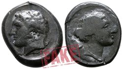 "Fantasy Issues.  circa 350-250 BC. SOLD AS SEEN; MODERN REPLICA / NO RETURN !. Electrotype ""Didrachm"""
