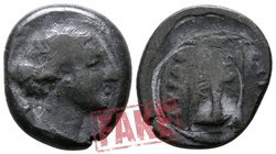 "Fantasy Issues.  circa 350-250 BC. SOLD AS SEEN; MODERN REPLICA / NO RETURN !. Electrotype ""Didrachm"" (?)"