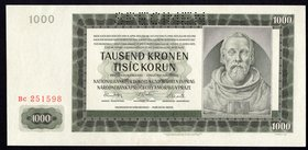 Bohemia & Moravia 1000 Korun 1942 SPECIMEN