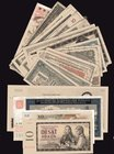 Czechoslovakia & Bohemia a Moravia Lot of 26 Banknotes