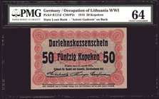 Germany 50 Kopeken 1916 PMG 64