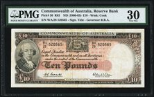 Australia Commonwealth of Australia Reserve Bank 10 Pounds ND (1960-65) Pick 36 R63 PMG Very Fine 30.   HID09801242017