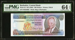 Barbados Central Bank 100 Dollars ND (1994) Pick 45 PMG Choice Uncirculated 64 EPQ.   HID09801242017