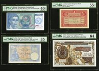 Four PMG Graded Examples From Bosnia - Herzegovina, Austria And Serbia. Bosnia - Herzegovina National Bank 500 Dinara ND (1992) Pick 1b PMG Extremely ...