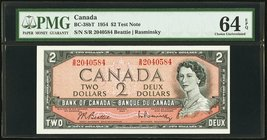 Canada Bank of Canada $2 1954 BC-38bT Test Note PMG Choice Uncirculated 64 EPQ.   HID09801242017