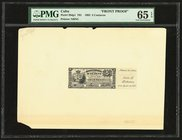 Cuba El Banco Espanol de la Habana 5 Centavos 6.8.1883 Pick 29dp1 Front Proof PMG Gem Uncirculated 65 EPQ. Note unaffected by issues on cardstock; two...