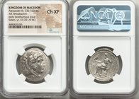 MACEDONIAN KINGDOM. Alexander III the Great (336-323 BC). AR tetradrachm (28mm, 1h). NGC Choice XF. Early posthumous issue of Sidon, dated Civic Year ...