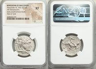 MACEDONIAN KINGDOM. Alexander III the Great (336-323 BC). AR tetradrachm (25mm, 2h). NGC XF. Posthumous issue of Ake or Tyre, dated Regnal Year 28 of ...