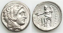 MACEDONIAN KINGDOM. Alexander III the Great (336-323 BC). AR tetradrachm (27mm, 16.60 gm, 11h). XF, porosity. Late lifetime-early posthumous issue of ...
