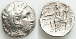 MACEDONIAN KINGDOM. Alexander III the Great (336-323 BC). AR tetradrachm (28mm, 16.48 gm, 5h). VF, porosity. Lifetime issue of 'Amphipolis', ca. 336-3...