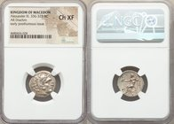 MACEDONIAN KINGDOM. Alexander III the Great (336-323 BC). AR drachm (18mm, 12h). NGC Choice XF. Posthumous issue of Lampsacus, ca. 310-301 BC. Head of...