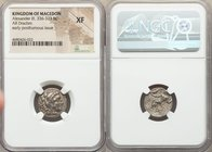 MACEDONIAN KINGDOM. Alexander III the Great (336-323 BC). AR drachm (16mm, 1h). NGC XF. Late lifetime or early posthumous issue of Sardes, ca. 323-319...