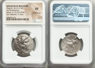 MACEDONIAN KINGDOM. Philip III Arrhidaeus (323-317 BC). AR tetradrachm (26mm, 1h). NGC VF, Fine Style. Sidon, dated Regnal Year 13 of Abdalonymos (321...