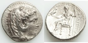 MACEDONIAN KINGDOM. Philip III Arrhidaeus (323-317 BC). AR tetradrachm (26mm, 16.75 gm, 6h). Choice XF, porosity. Babylon, ca. 323-318/7 BC. Head of H...