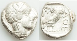 ATTICA. Athens. Ca. 440-404 BC. AR tetradrachm (24mm, 17.12 gm, 7h). Choice VF. Mid-mass coinage issue. Head of Athena right, wearing crested Attic he...