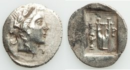 LYCIAN LEAGUE. Cragus. Ca. 1st century BC. AR hemidrachm (17mm, 1.65 gm, 12h). Choice XF. Series 3. Laureate head of Apollo right; Λ-Y below / K-P, ci...